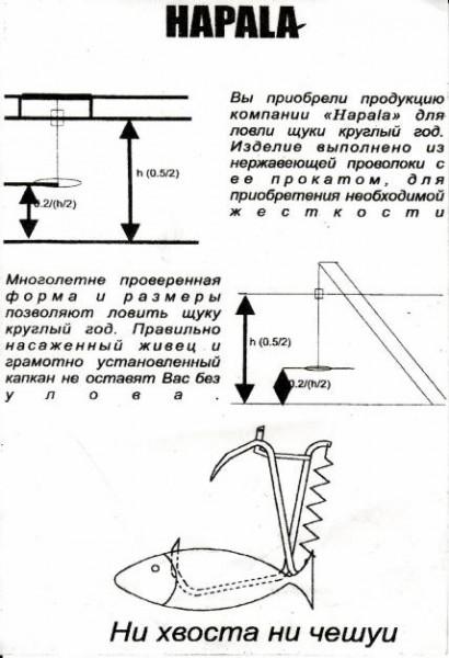 Как сделать капкан для щуки своими руками