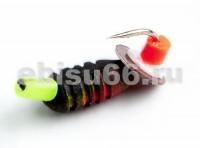 Нимфа 2,5 с риской чёрн+цвет,пайетка,  0,5гр - Интернет-магазин товаров для рыбалки Эбису, Екатеринбург