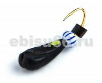 Ладья 3 черная с точк, бисер, Hayabusa 156 0,5 гр - Интернет-магазин товаров для рыбалки Эбису, Екатеринбург