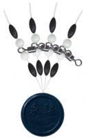 Вертлюг и стопор Swivel with pearl beads and rubber stopper - Интернет-магазин товаров для рыбалки Эбису, Екатеринбург