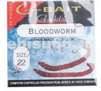 Крючки G-BAIT BLOODWORM B размер 22 - Интернет-магазин товаров для рыбалки Эбису, Екатеринбург