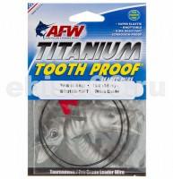 Поводковый материал AFW  Titanium Tooth Proof, Single Strand Leader Wire, 10 lb (5 kg) test, .009 in (0.21 mm) diam, Black Oxide, 15 ft (4.6 m) - Интернет-магазин товаров для рыбалки Эбису, Екатеринбург