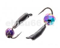 Безнасадка 2 черная,граненый  шарик камень,   0,55 гр - Интернет-магазин товаров для рыбалки Эбису, Екатеринбург