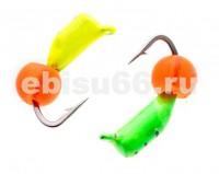 Безнасадка 2,5 цветная., ядрёный глаз,  0,5 гр - Интернет-магазин товаров для рыбалки Эбису, Екатеринбург