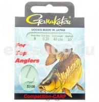 Крючки GAMAKATSU HOOK BKS-3310B CARP 40 см размер 008 леска 0,20 - Интернет-магазин товаров для рыбалки Эбису, Екатеринбург