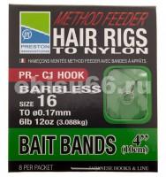Крючок с поводком PMFHRBB/16 Method Feeder Hair Rigs with BAIT BANDS - Интернет-магазин товаров для рыбалки Эбису, Екатеринбург