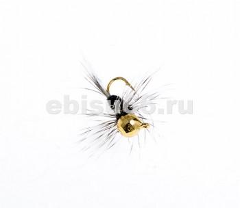 Мормышка вольфрам с мухой 1 (10, 3 мм, шар, золото) - Интернет-магазин товаров для рыбалки Эбису, Екатеринбург