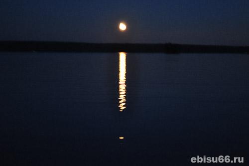 белоярское водохранилище ночью